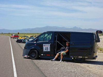 Guy Martin at Nevada Open Road Challenge with bf1systems TPMS