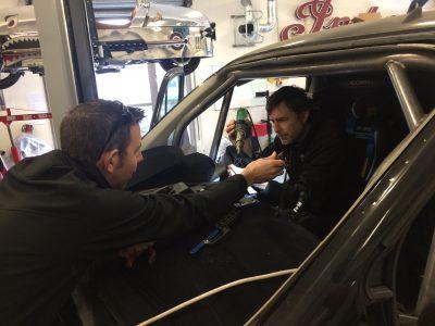 bf1systems Technicians installing TPMS onto Guy Martin's Transit van